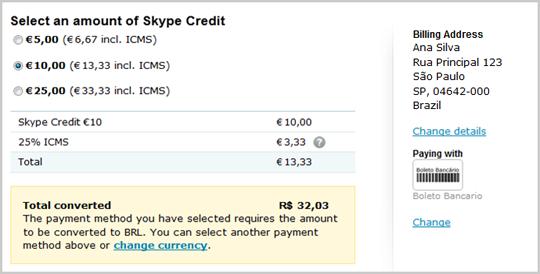 Skype ICMS